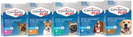 Comfortis PLUS Range shot 6-packs